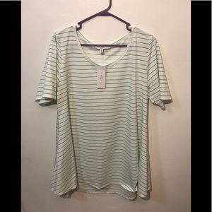 🌟NWT🌟Short Sleeve Stripped Tunic